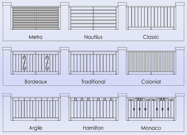Floreat Balustrade Designs Balustrade Fence Infills